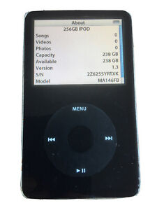 256GB iPod Classic 5th Generation Black MA146FB 2Z6255YRTXK