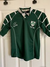 Boys Lfr Live For Rugby From Ireland Green Jersey Shirt Size 7-8. St Patrick's