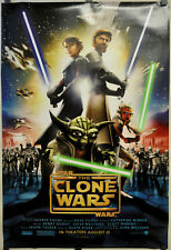 STAR WARS THE CLONE WARS 2008 ORIG 27X40 NM ROLLED DOUBLE SIDED MOVIE POSTER