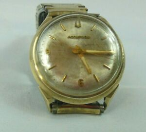 Vintage Accutron (Bulova) M6 Watch 10KGF Bezel, 214 Movt, Sets From Back WORKING