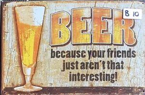 BEER Retro Vintage Tin Sign Bar Shed & Man Cave Signs AU Seller