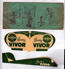 BRASSERIE de la MEUSE / JUS de FRUIT VIVOR / AVION MAQUETTE Publicité papier