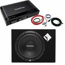 "Rockford Fosgate 12"" Sub Enclosure Prime 250 Mono Amp Package Deal RRP £370"