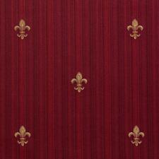 Essentials Upholstery Drapery Fleur de Lis Fabric Burgundy Gold / Ruby Medallion