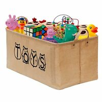 """Toy Basket Box 20"""" Large Toy Chest Storage Bin Organizer Collapsible Toy Trunk"""