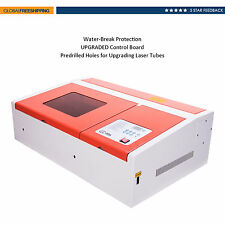 Upgraded 40w Co2 Laser Engraving Cutting Machine Cutter Water-break Protection