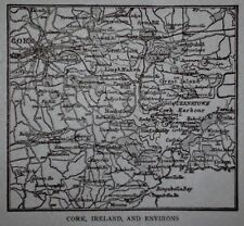 L@@K! Antique 1914 World War WWI  Atlas Map Cork, Ireland Constantinople. Turkey