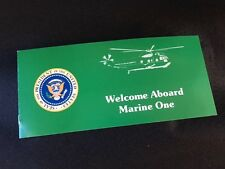 "AUTHENTIC Super RARE ""Welcome Aboard Marine One"" HMX-1 Flight instructions C-25"
