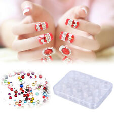 12 Grids Clear Nail Art Display Tray Glitter Rhinestone Decor Storage Box Case