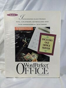 WORDPERFECT OFFICE 4.0 ADMINISTRATOR / SERVER PACK DOS & OS/2 SERVER 1993 NEW