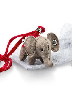 Steiff 'Little Elephant' Necklace collectable felt in bag - EAN 605161
