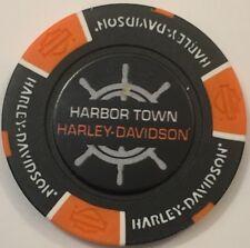 MANITOWOC, WI 115 ANNIVERSARY HARBOR TOWN HARLEY DAVIDSON POKER CHIP (B/O)