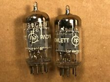 Matched Pair 1962 Amperex ECC82 12AU7 Tubes strong balanced Halo Getters for HP