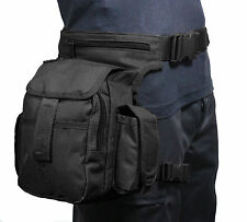 Black Canvas Tactical Girovita Multi Pack con Cinturino Gamba-Softair Caccia HIP BAG