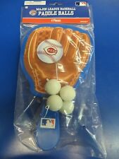 Cincinnati Reds MLB Pro Baseball Glove Sports Party Favor Toy Paddle Ball Games