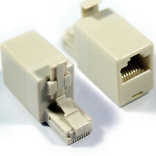RJ45 Crossover Adapter - Male to Female - Ethernet Network Cat5 Cat5e Connector
