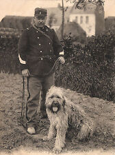 BRIARD AND SOLDIER VINTAGE IMAGE ON DOG GREETINGS NOTE CARD