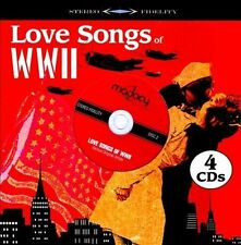 LOVE SONGS OF WWII 4 CDs VARIOUS ORIGINAL ARTISTS 40 songs Factory Sealed-NEW!