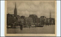 HAMBURG ~1945 Hafen Landungsbrücken kleine Boote Schiff