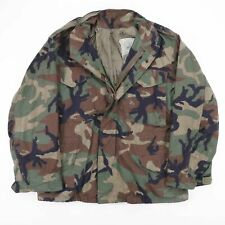 Vintage US ARMY Green Woodland Camo Cold Weather Field Jacket Size Men's Medium
