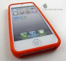 ORANGE SOFT SILICONE GEL RUBBER SKIN CASE COVER APPLE IPHONE 5 5S SE