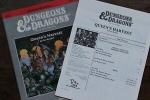 Queen's Harvest BD&D Basic D&D Adventure Module Rare Dungeon TSR 9261 B12 1984