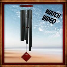 WOODSTOCK ENCORE COLLECTION CHIMES OF EARTH WIND CHIME BLACK NEW FREE SHIP