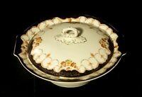 Vintage Myott & Son Rosemary Pattern Lidded Serving Dish - England