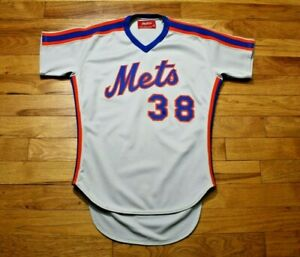 1980's New York Mets game used jersey road minor league size 42 all sewn on