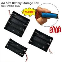 AA Battery Holder Box Storage Case Open&Closed Switch 1x 2x 3x 4 Cells Hot AU