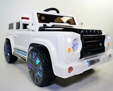LAND ROVER DEFENDER STYLE RIDE ON TOY CAR REMOTE CONTROL TRUCK 12 VOLTS  WHITE