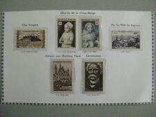 timbres France : croix rouge 1951 Y&T n° 913 (o)  914*, 915**, 916*, 917et918**