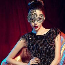 Sexy Princess Masquerade Mask Rhinestone Laser Cut Metal Party Ball Black