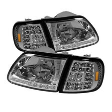 Ford 97-03 F150 / Eepedition Chrome LED Headlights + LED Corner Signal Set
