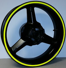 FLUORESCENT NEON DAYGLO YELLOW RIM STRIPES WHEEL DECALS TAPE STICKERS GSXR 750