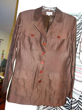 PROTOTYPE Jacket Shirt Long Sleeve Dark Brown Size 6 4 front pockets