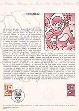 Document Philatélique Timbre 1er Jour : 25/10/ 1975 - Bourgogne