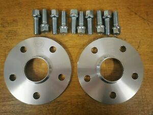 10mm MK5 GOLF 5x112 Hubcentric Spacers 57.1CB 10x 37MMTHREAD LENGTH RAD BOLTS