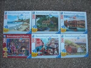 RAVENSBURGER 300 (Large Format) Piece Jigsaw Puzzles ~ Lot of 6