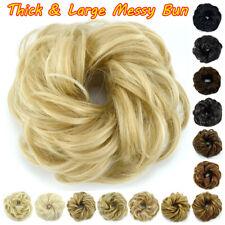 UK Real Natural Messy Rose Bun Wavy Scrunchie Hair Piece Extension Updo As Human
