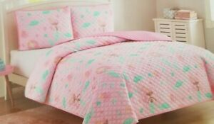 2 pc Cloud 9 Mermaid Sea Princess Twin Quilt & Sham Set NIP