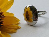 Vintage Sarah Coventry Locket Ring Silver Tone Mirror Finish Adjustable