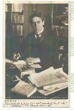 More details for judaica postcard jewish writer israel zangwill rotary real photo used 1903