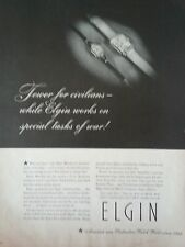 1944 Elgin Watch National Watch Company Original Print Ad