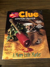 """Complete Parker Brothers 500 Piece Clue Mystery Puzzle  """"A Merry Little Murder"""""""