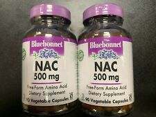 BLUEBONNET    NAC 500 MG    90 CAPSULES    2 BOTTLES