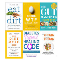 Eat Dirt,The Gut Makeover Recipe Book,Food,The Diet Myth 6 Book Collection NEW