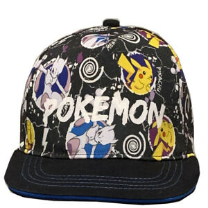Licensed Boys Pokemon Pikachu Mewtwo Baseball  Cap Hat Age 8-12 Years