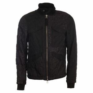 MAHARISHI Jacket Black Quilted Mixed Panel Size Large TR 554