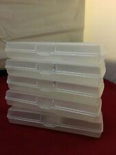 5 - Clear Mini Pencil Box Storage Cases